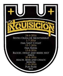 Próximos conciertos de La Inquisición