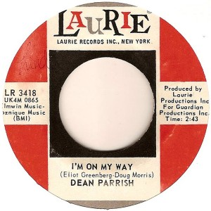 "7"" de I'm on my way de Dean Parrish"