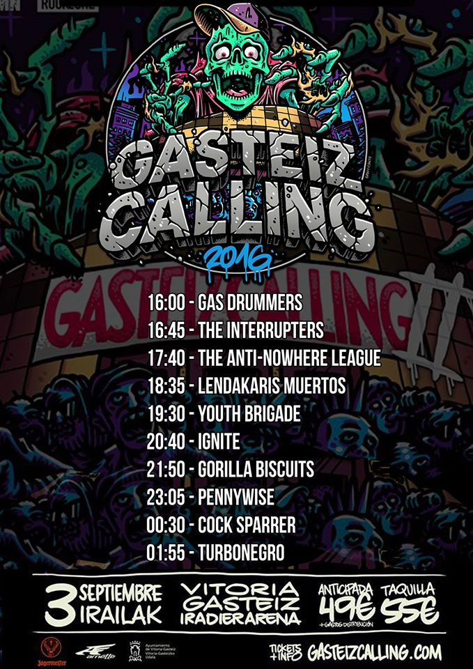Horarios Gasteiz Calling 2016