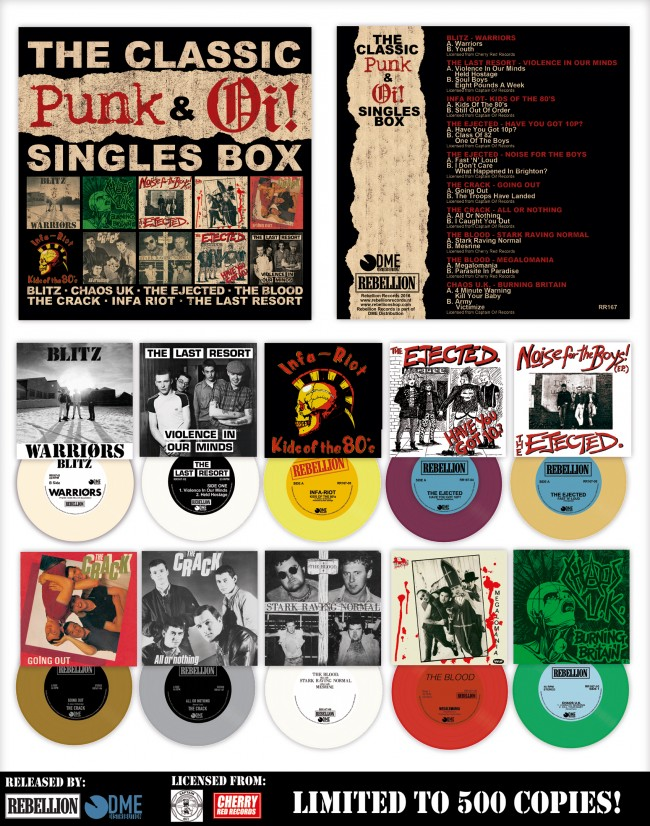 "The Classic Punk & Oi! Singles Boxset 10 x 7"""