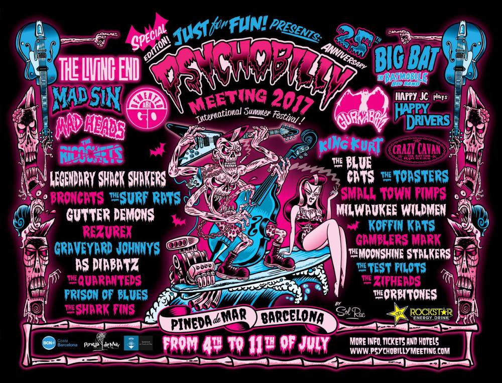 Cartel Psychobilly Meeting 2017 / Psychobilly Meeting 2017 line-up