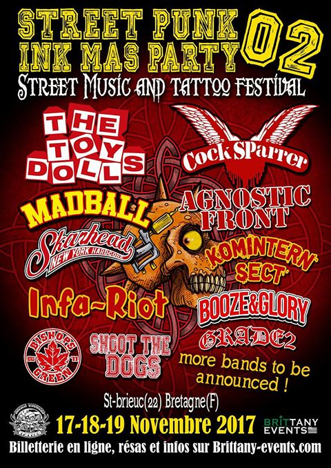 Street Punk Ink Mas Party 2017 line-up