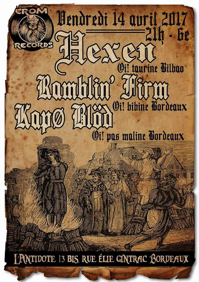 Concierto Hexen, Ramblin' Firm y Kapø Blöd en Burdeos