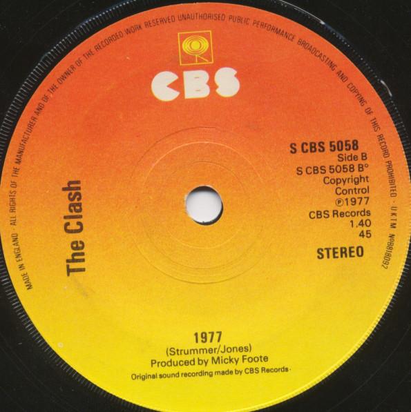 The Clash: White Riot/1977 singleThe Clash: White Riot/1977 single