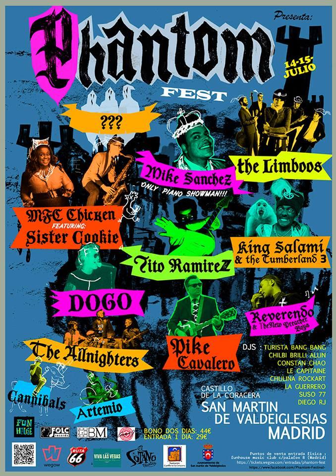 Cartel Phantom Fest 2017 en San Martín de Valdiglesias