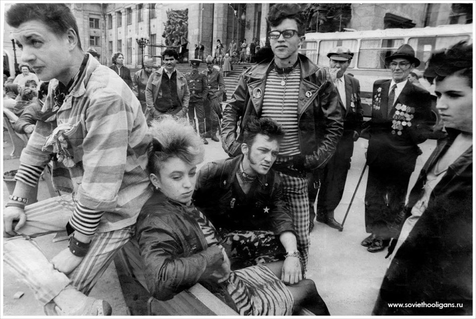 Soviet punks in the 80s / Punks soviéticos de los 80s. Credit: www.soviethooligans.ru