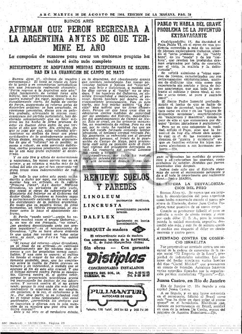 Página de ABC comentando las peleas entre mods y rockers de 1964
