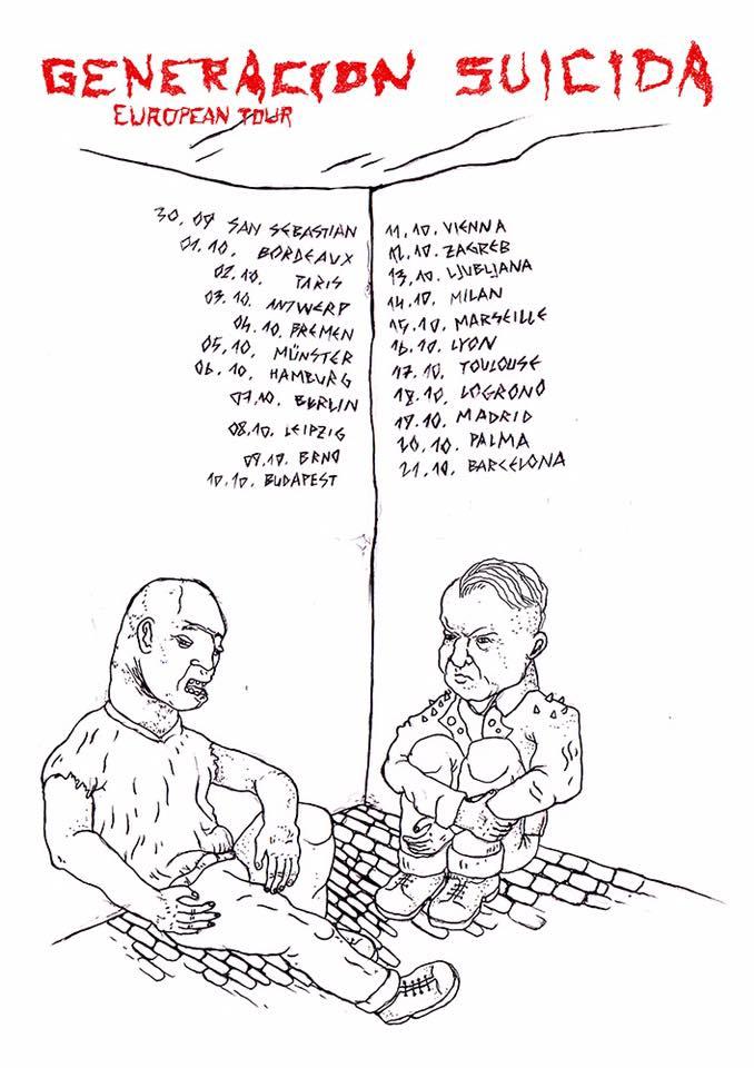 Generación Suicida European Tour 2017