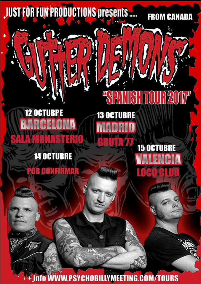 Conciertos de Gutter Demons en Barcelona, Madrid y Valencia en 2017