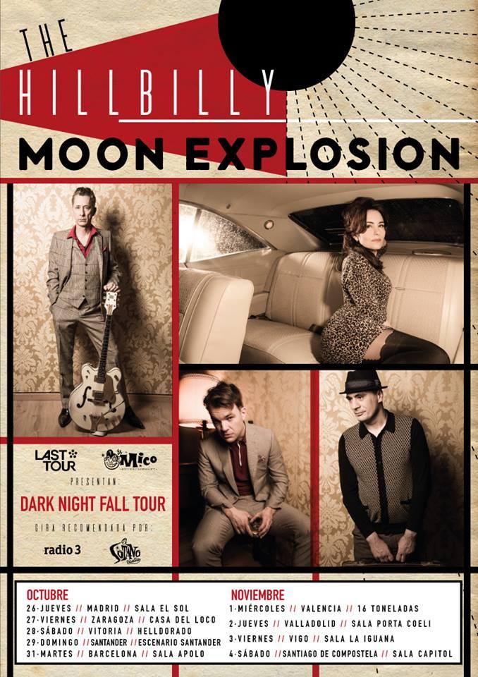 Conciertos de The Hillbilly Moon Explosion: Madrid, Zaragoza, Vitoria, Santander, Barcelona, Valencia, Valladolid, Vigo y Santiago de Compostela