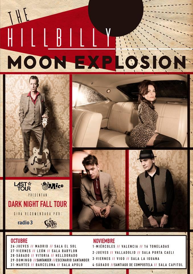 Conciertos de The Hillbilly Moon Explosion: Madrid, León, Vitoria, Santander, Barcelona, Valencia, Valladolid, Vigo y Santiago de Compostela