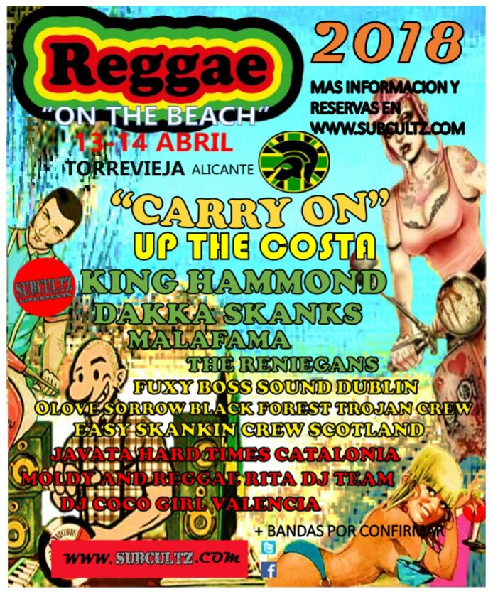 Reggae on the Beach 2018 at Torrevieja, Spain