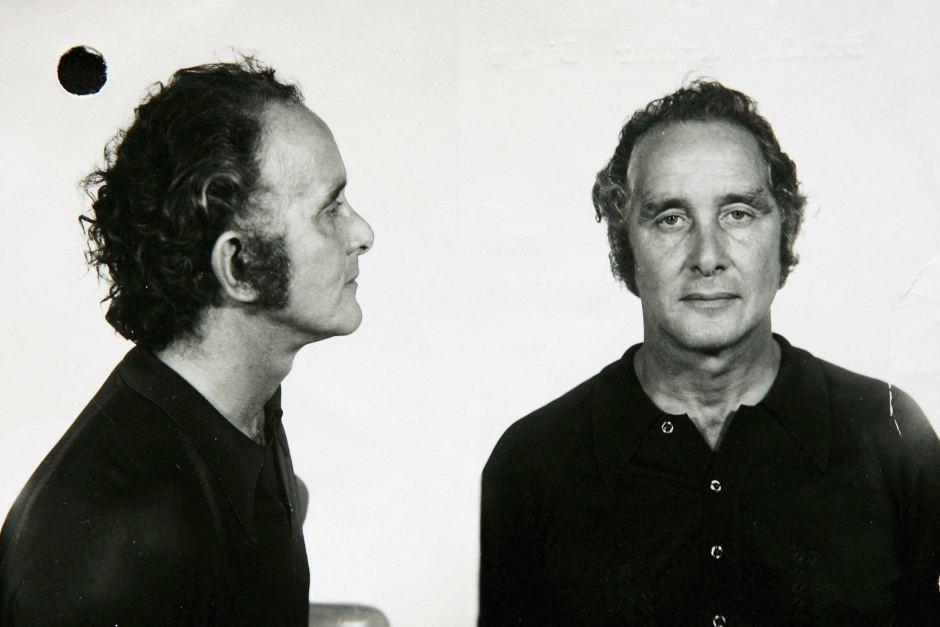 Foto tomada para la ficha policial de Ronnie Biggs / Ronnie Biggs' mugshot