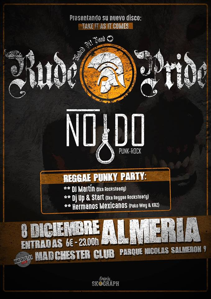 Concierto Rude Pride + Nodo @ Madchester Club, Almería, 08/12/2017