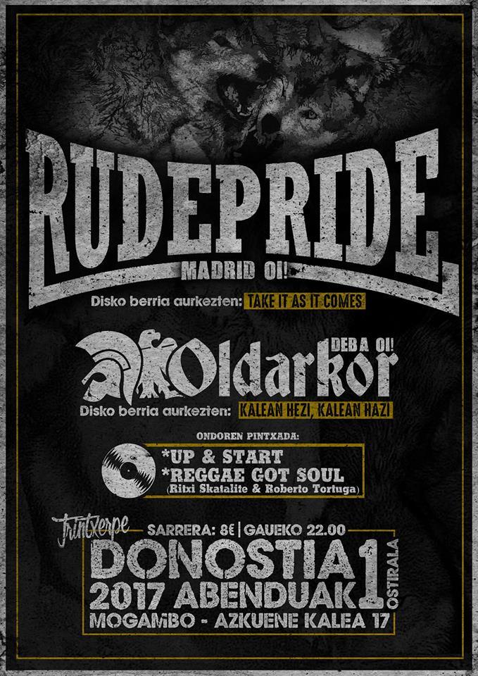 Concierto Rude Pride + Oldarkor @ Mogambo, Donostia, 01/1272017