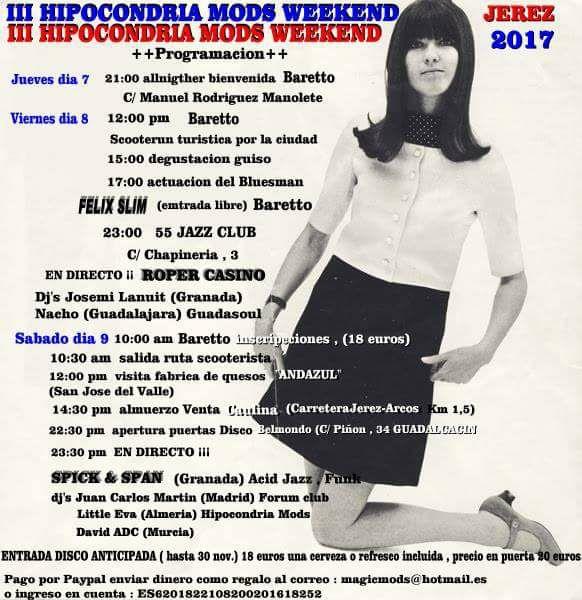 III Hipodondria Mods Weekend - Xerez - 2018 del 7 al 9 de diciembre de 2017