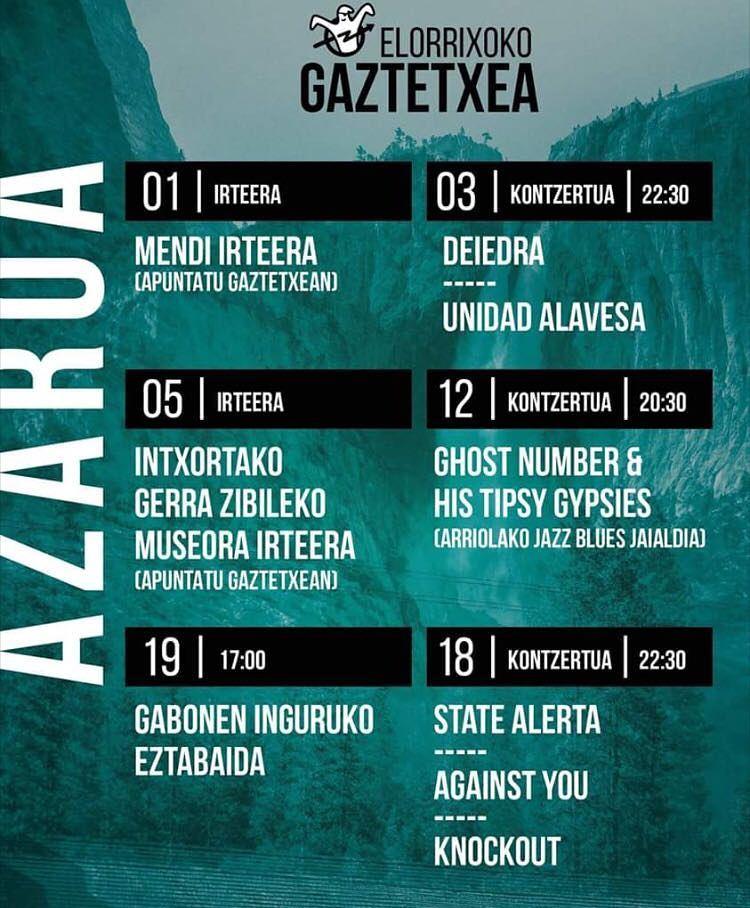 Knockout + Against You + State Alerta en el Gaztetxe de Elorrio el sábado 18 de noviembre de 2017