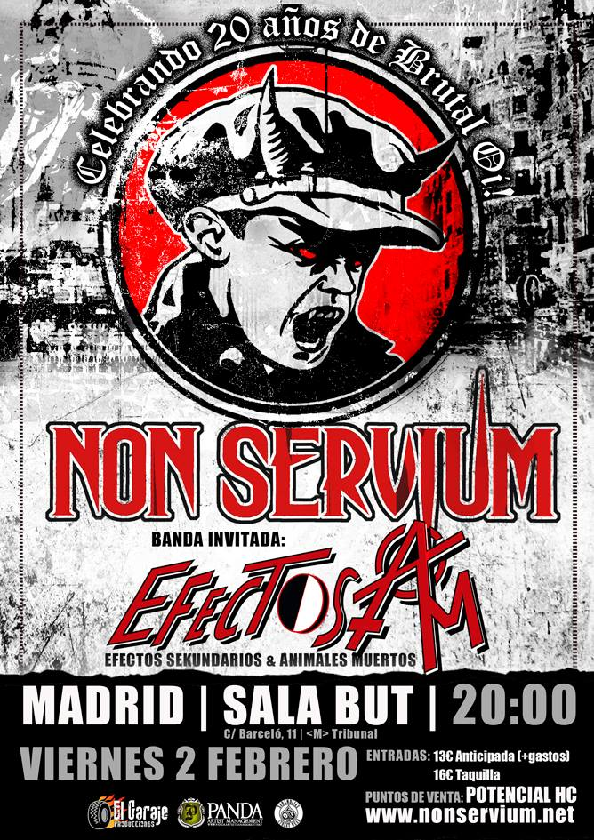 Non Servium + Efectos AM, sala But, Madrid, viernes 2 de febrero de 2018