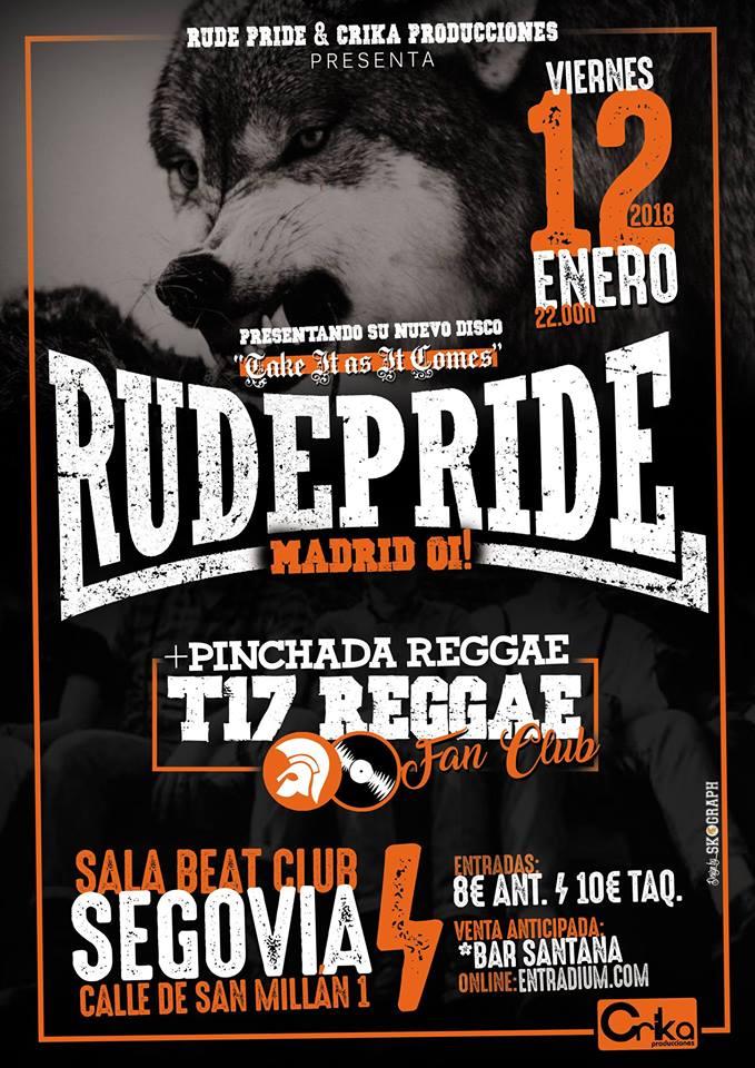 Concierto de Rude Pride @ Beat Club, Segovia, 12/01/2018