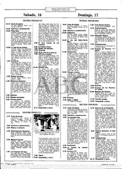 Programación TVE de 16 de abril de 1983