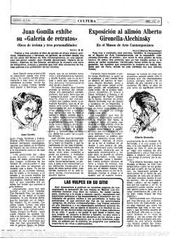 Crónica del concierto de Vulpess en Rockola, publicada en ABC el 19 de mayo de 1983