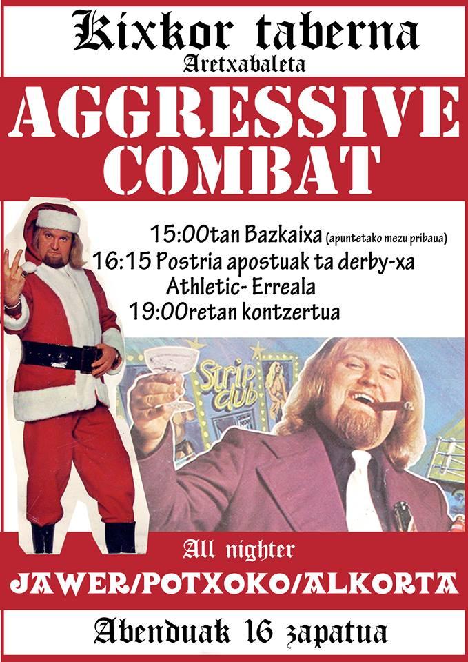 Concierto de Aggressive Combat @ Kixkor Taberna, Aretxabaleta, 16/1272017
