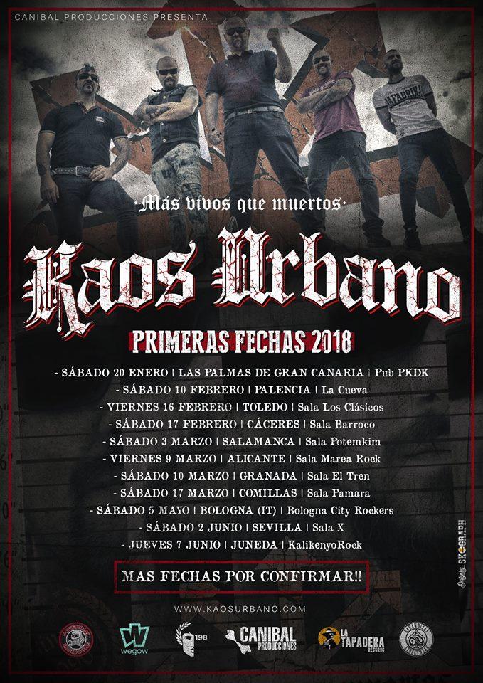 Conciertos Kaos Urbano en 2018