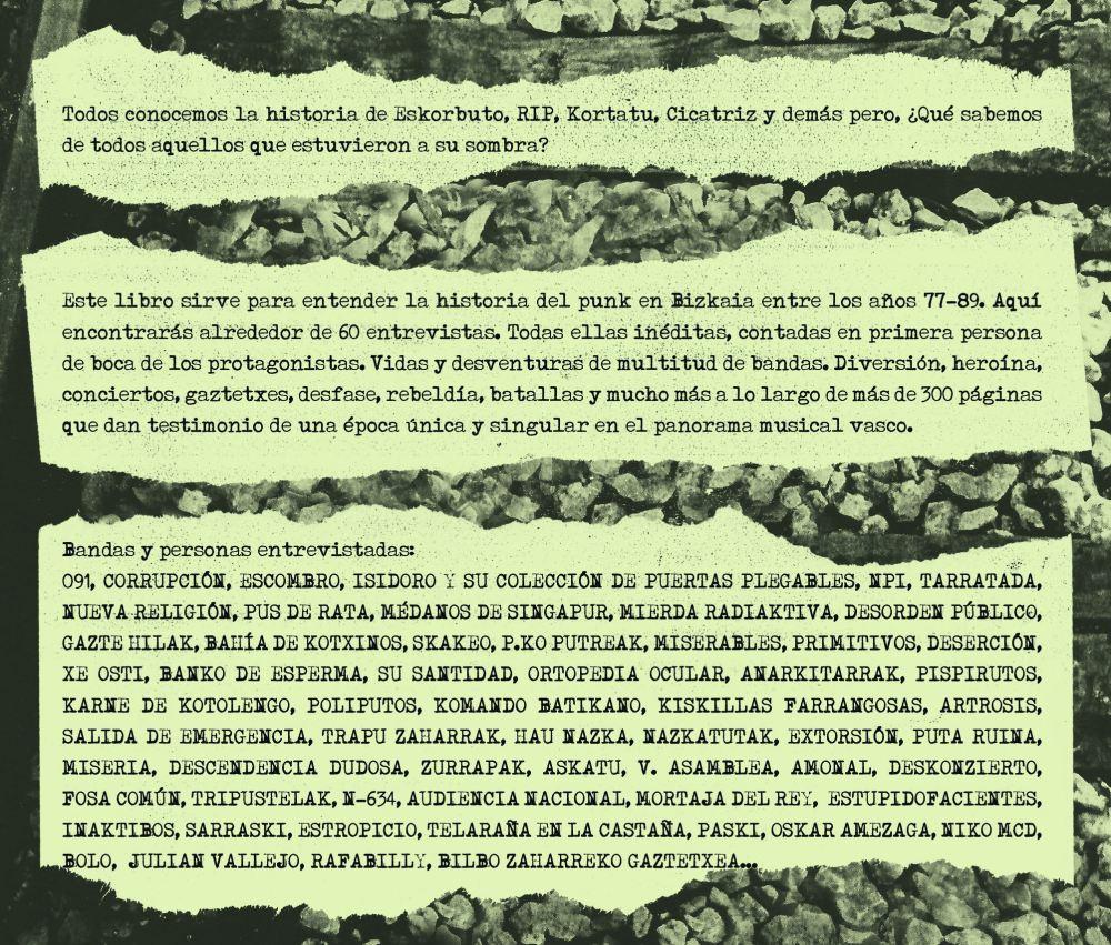 Libro Mierda de Bizkaia y sus grupos punks maqueteros 1977-1989