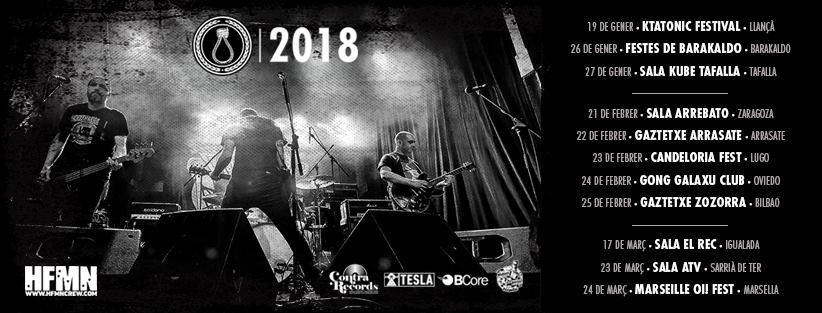 Próximos conciertos de CRIM en enero, febrero y marzo de 2018