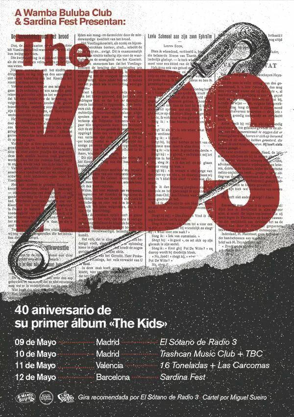 Gira de The Kids en mayo de 2018 con conciertos en Madrid (Trashcan), Valencia (16 Toneldas) y Barcelona (Sardina Fest / Sala Upload)