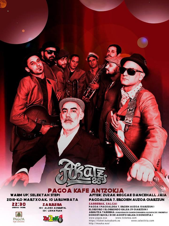 Cartel del concierto de Akatz en Oiartzun el sábado 10 de marzo de 2018