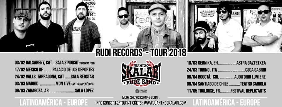 Conciertos Juantxo Skalari & La Rude Band 2018
