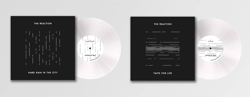 "The Reaction: Hard Rain In The City & Taste for Life 7"" (Time For Action, 2018)"