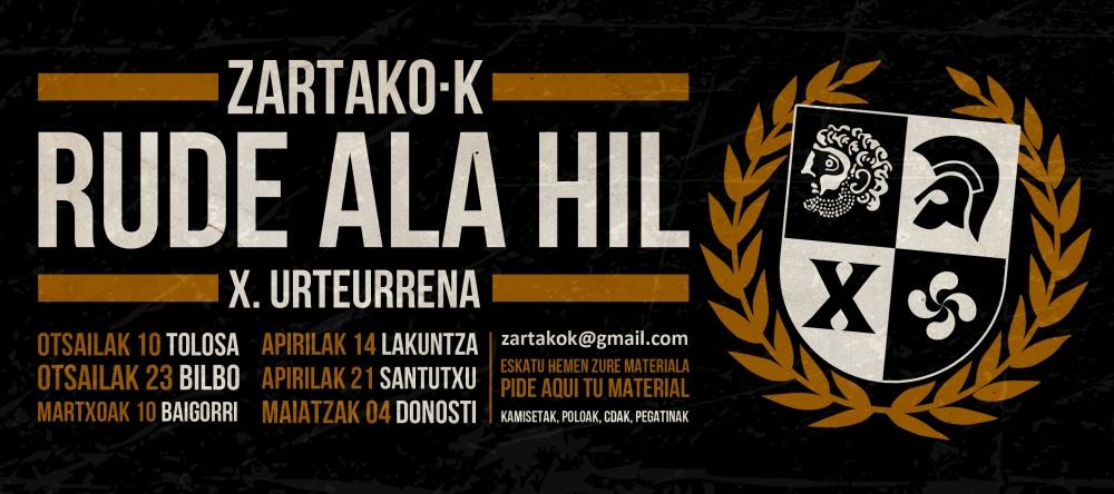 Conciertos de Zartako-K en Tolosa, Bilbao, Baigorri, Lakuntza, Santutxu y DonostiConciertos de Zartako-K en Tolosa, Bilbao, Baigorri, Lakuntza, Santutxu y Donosti