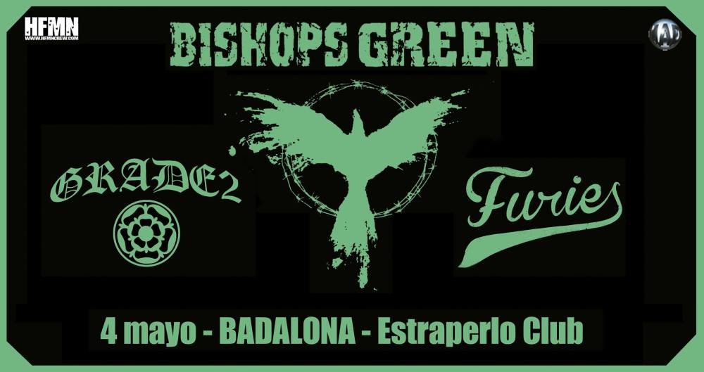 Bishops Green + Grade 2 + Furies @ Estraperlo Club, Badalona, 04/05/2018