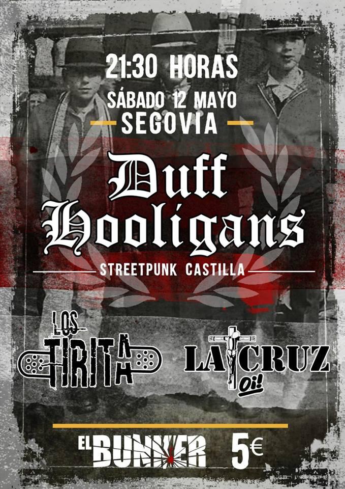 Cartel del concierto de Duff Hooligans @ Soria
