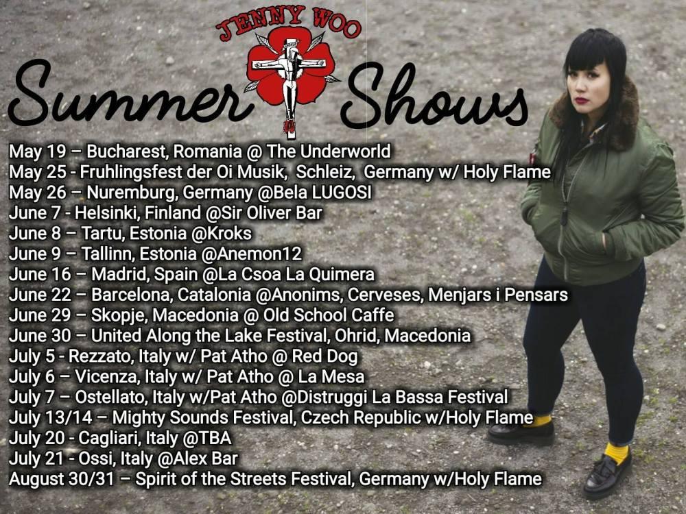Cartel de la gira de verano de 2018 de Jenny Woo