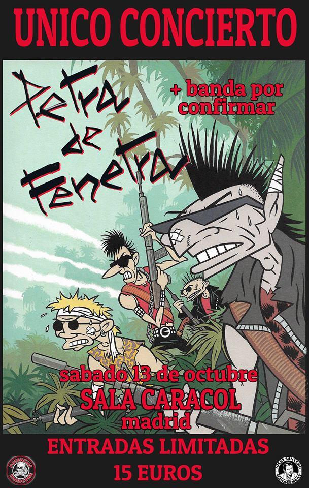Cartel del concierto de Petra de Fenetra @ Sala Caracol, Madrid, el sábado 13 de octubre de 2018