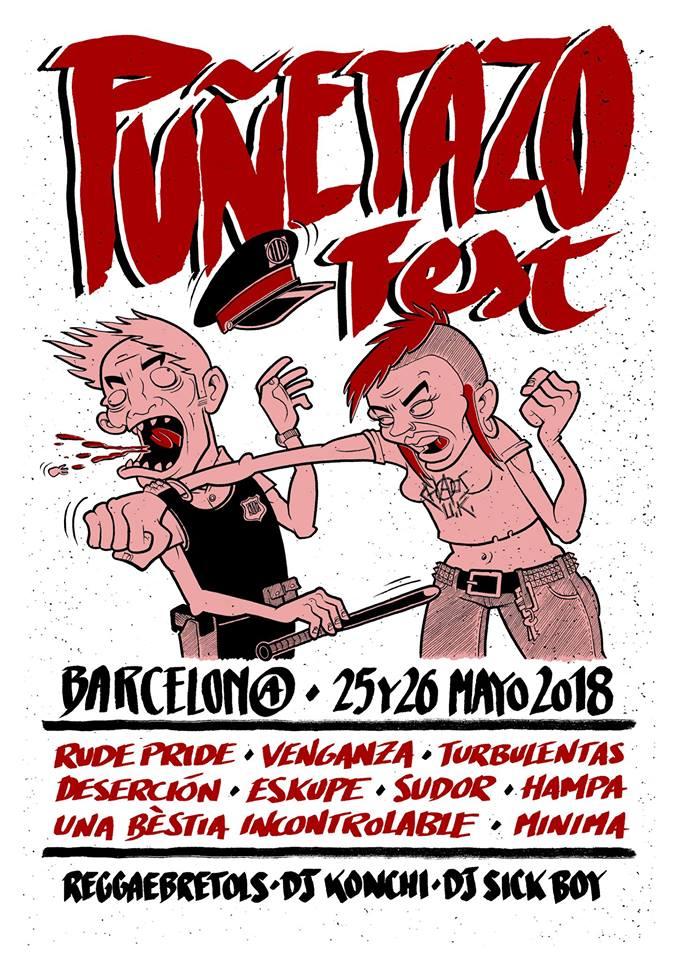 Cartel del Puñetazo Fest 2018 de Barcelona