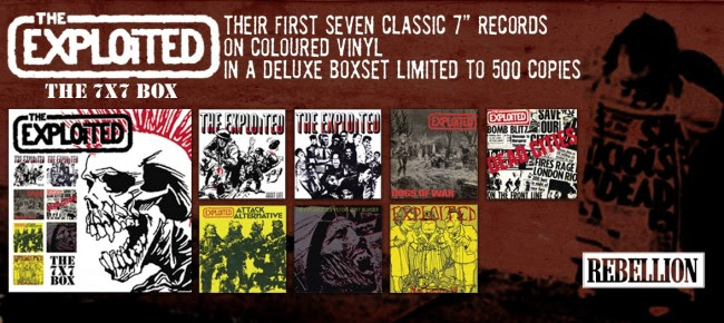 The Exploited: The 7x7 Box Set, released by Rebellion Records (2018)