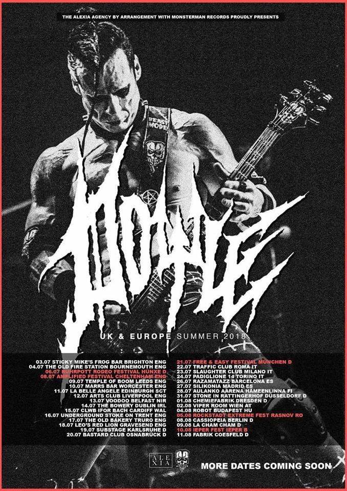 Cartel de la gira europea 2018 de Doyle (ex Misfits)