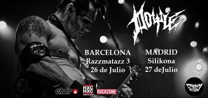 Cartel de los conciertos en Barcelona (Razzmatazz) y Madrid (Sala Silikona) de Doyle (ex Misfits) en julio de 2018