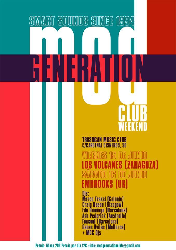 Embrooks y Los Volcanes serán las bandas participantes en el Mod Generation Club Weekend de Madrid