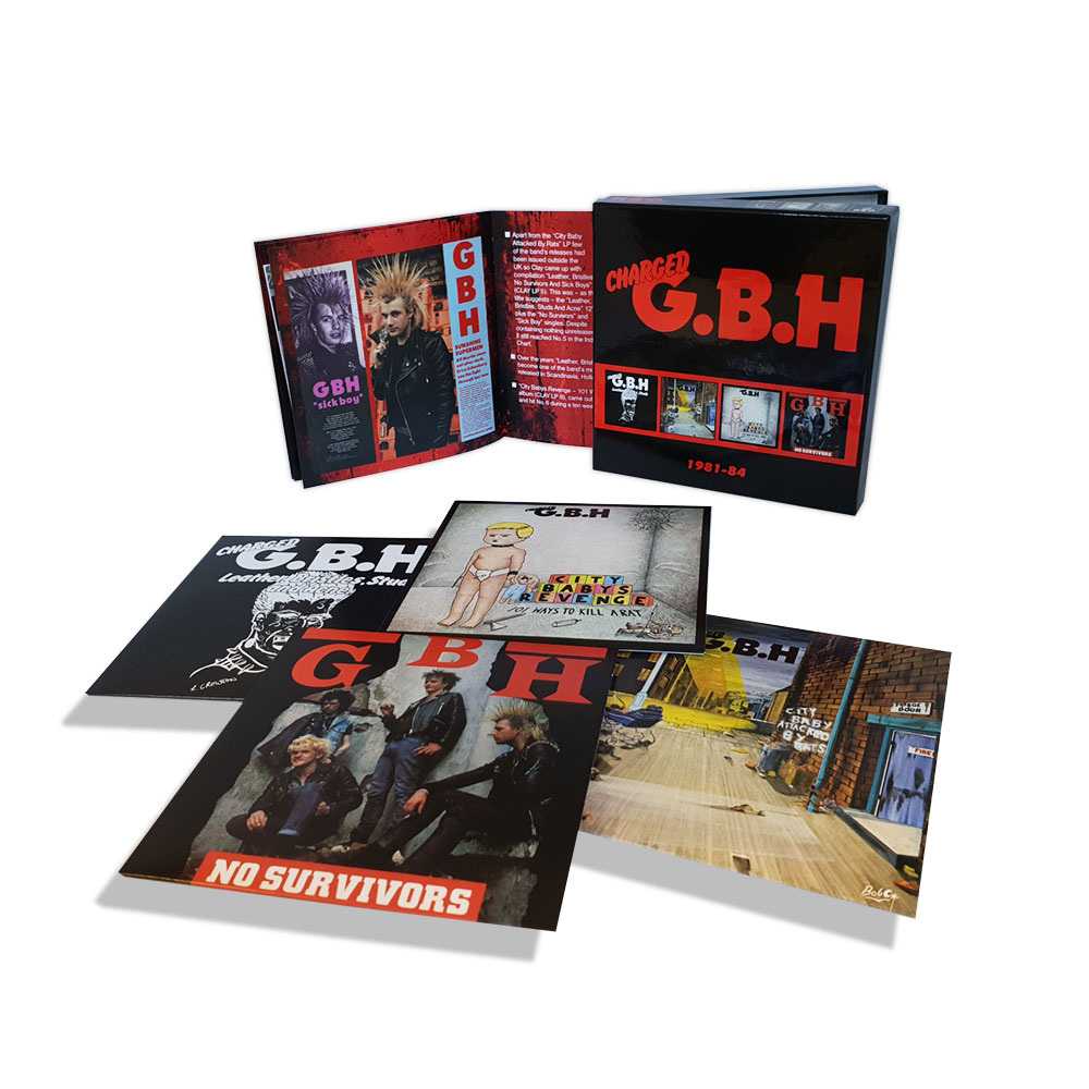 Charged GBH 1981-1984 box set, released by Captain Oi! (2018)