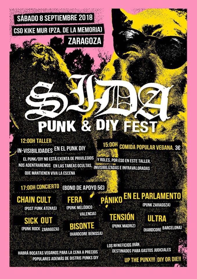 Sida Fest @ CSO Kike Mur, Zaragoza, sábado, 8 de septiembre de 2018