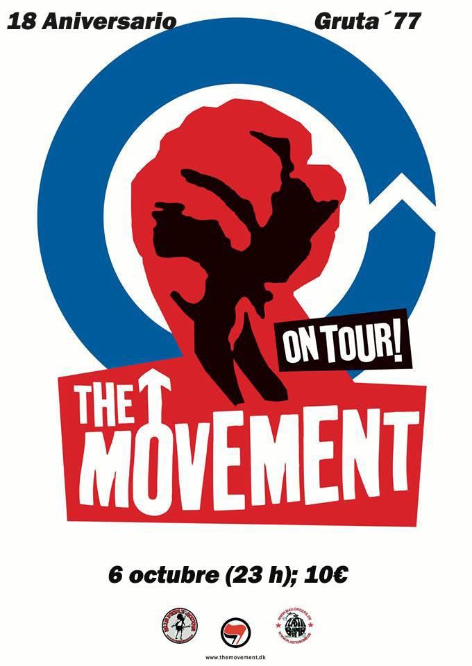 Cartel del concierto de The Movement en Gruta 77, el sábado 6 de octubre de 2018