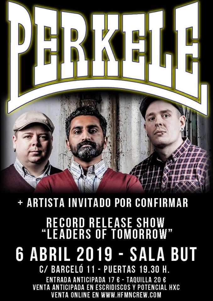 Cartel del concierto de Perkele en la sala But, Madrid, el 6 de abril de 2019
