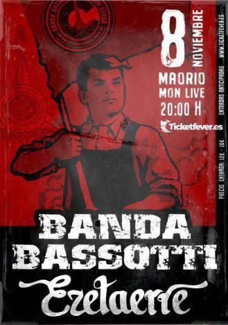 Cartel del concierto de Banda Bassotti @ Sala Mon, Madrid, jueves 8 de noviembre de 2018