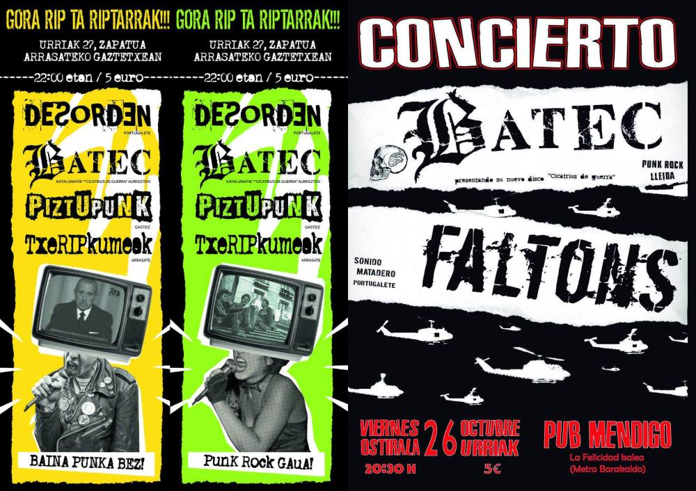 Próximos conciertos de Batec en Euskadi: Tributo a RIP en Arrasate/Mondragón y en el pub El Mendigo (Barakaldo)