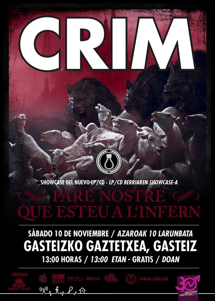 Showcase de presentación del nuevo disco de CRIM en el Gaztetxe de Vitoria-Gasteiz durante el Gasteiz Calling 2018
